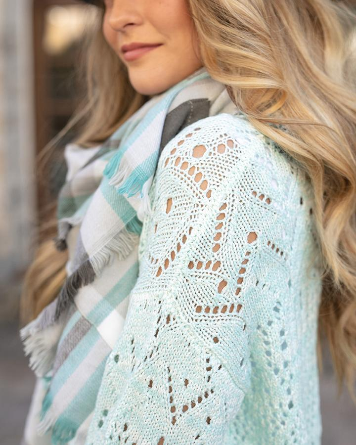 G&L Frost Creek Pointelle Sweater - Icy Mint