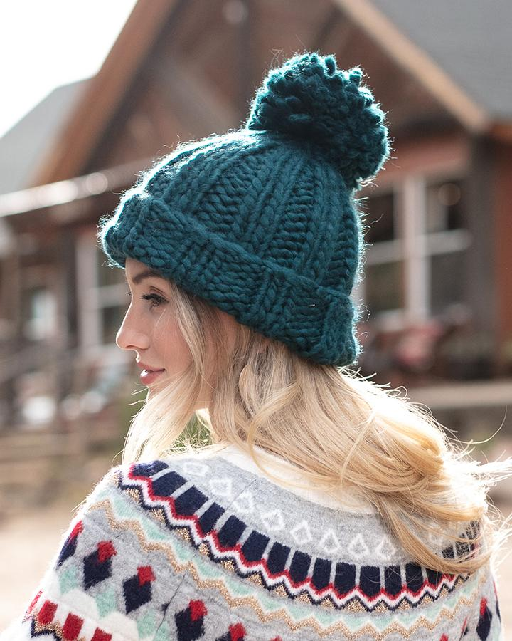 G&L Knit Pom Hat - Blue Spruce