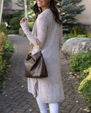 G&L Luxe - Lush Bamboo Duster Cardigan - Heathered Sand