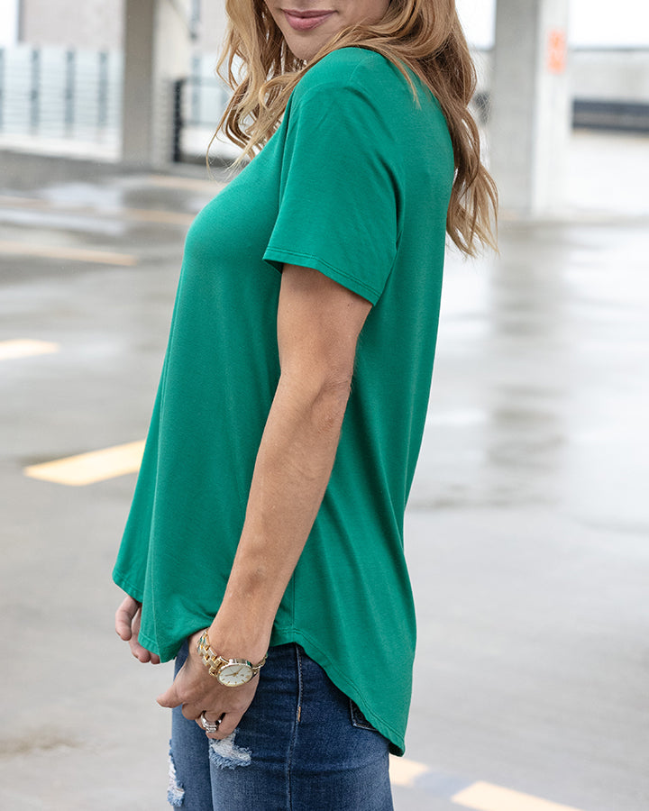 G&L Perfect Scoop Neck Tee - Emerald