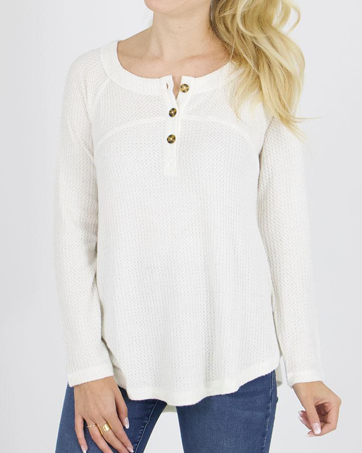 G&L Thermal Henley - Ivory