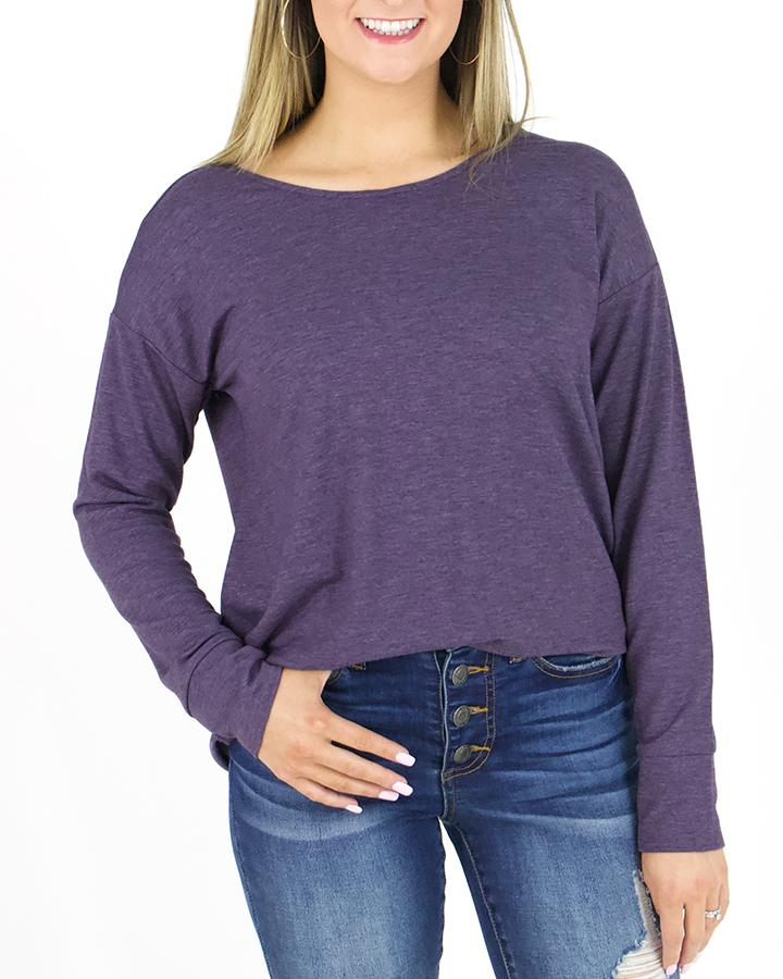 G&L Twistback Pullover - Loganberry