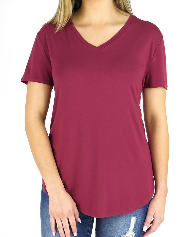 G&L Perfect V-Neck Tee - Boysenberry