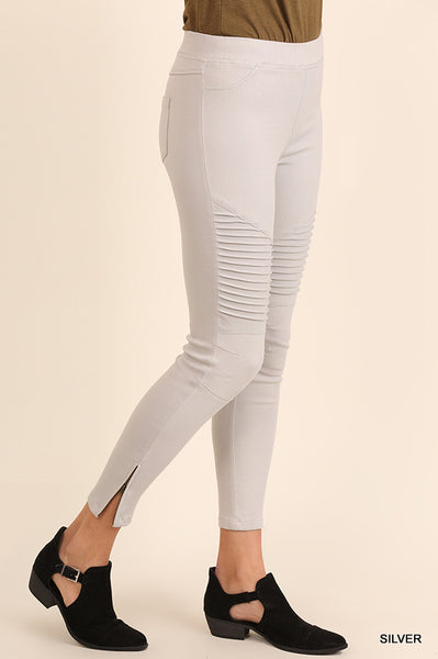 Highway Moto Jeggings - Silver