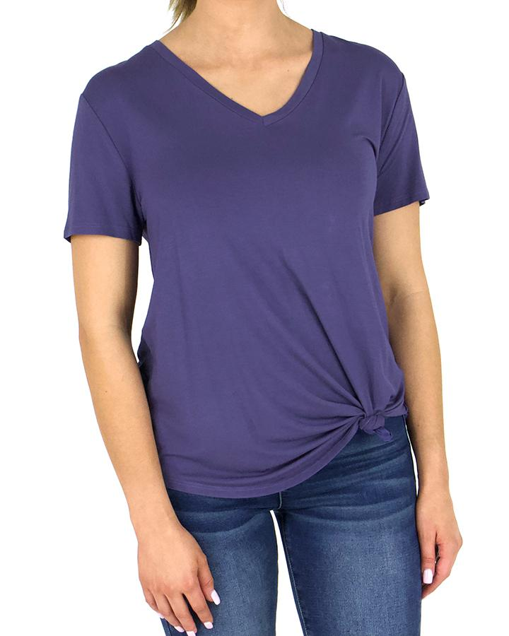 G&L Perfect V-Neck Tee - Deep Wisteria