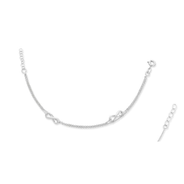 Sterling Silver 'Infinity' Anklet