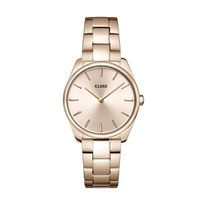 CLUSE Feroce Petite Full Rose Gold Link Watch CW11201
