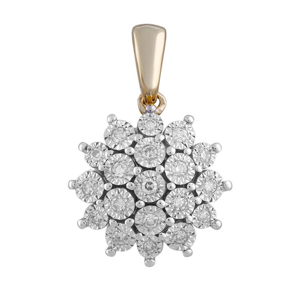 Pendant with 0.1ct Diamond in 9K Yellow Gold