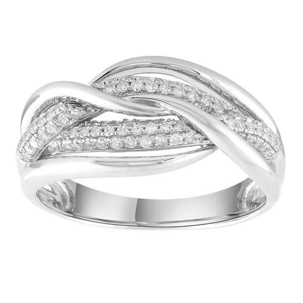 Ring with 0.33ct Diamonds in 9K White Gold