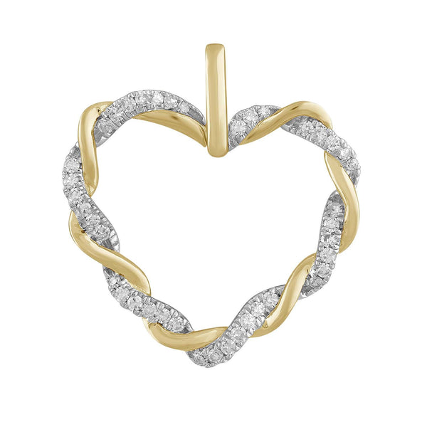 Heart Pendant with 9K Yellow Gold 0.2ct Diamond