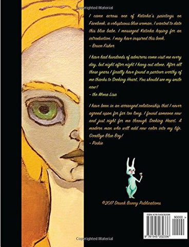 Seeking Heart Art Book - Back Cover with Fictional Reviews - Katinkabelle
