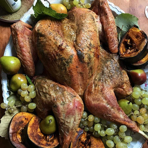 Herb and Avocado Oil-Infused Spatchcock Turkey