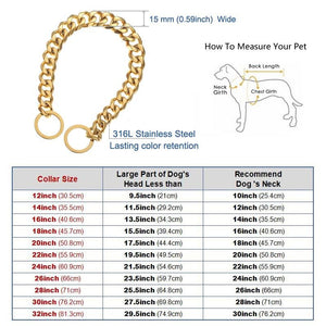 Cuban Link Dog Collar Chain