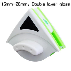 Double-Sided Magnetic Window Glass Cleaner Brush And Glass Surface Cleaning Tool
