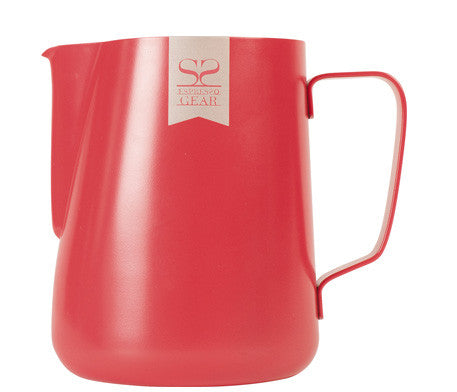 Red Teflon Frothing Jug