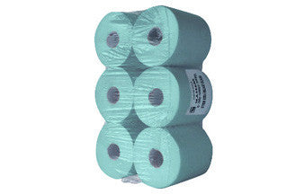 150m Blue Paper Rolls (Pack of 6)