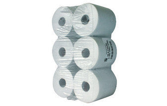 150m White Paper Rolls (Pack of 6)