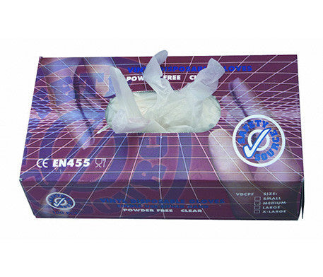 Box of 100 Vinyl Gloves (Large)