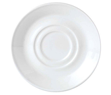 Simplicity White Stand/Saucer Double Well Large (36 per pack)