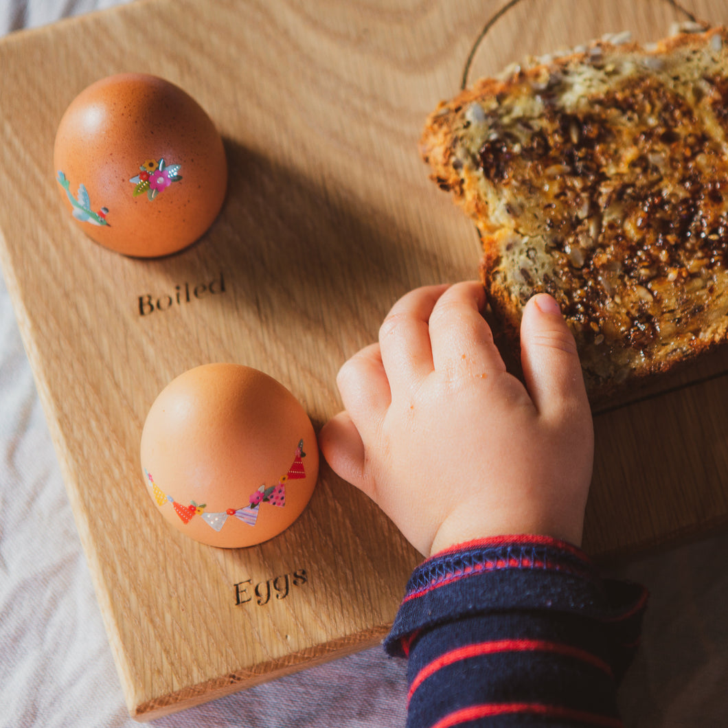 kids wooden breakfast board