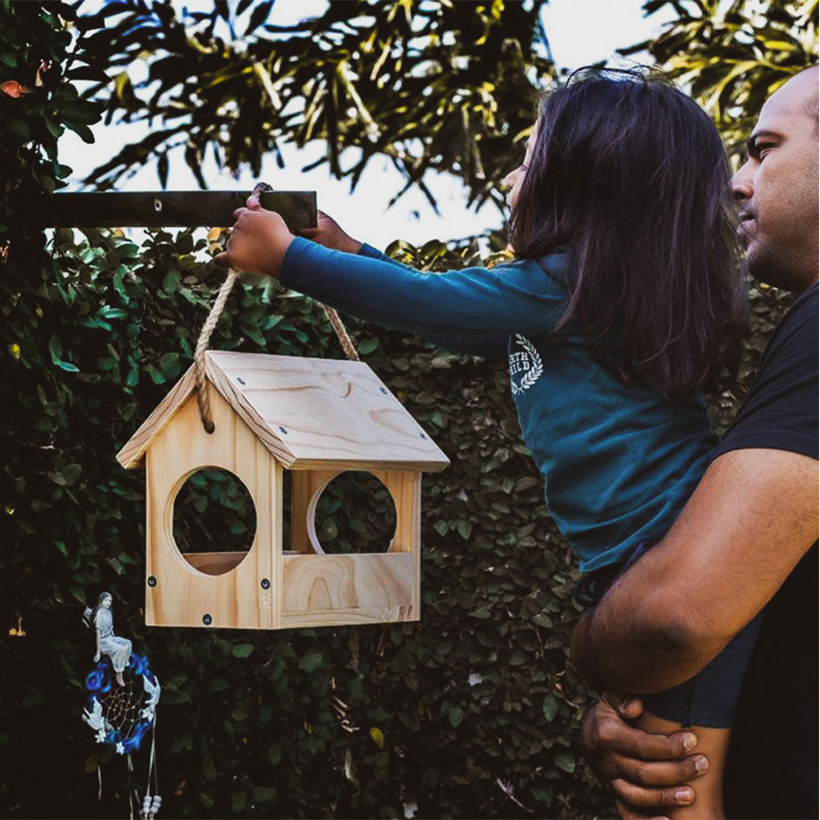 kids wooden bird feeder kit