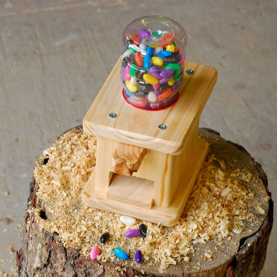 kids wooden candy dispenser kit