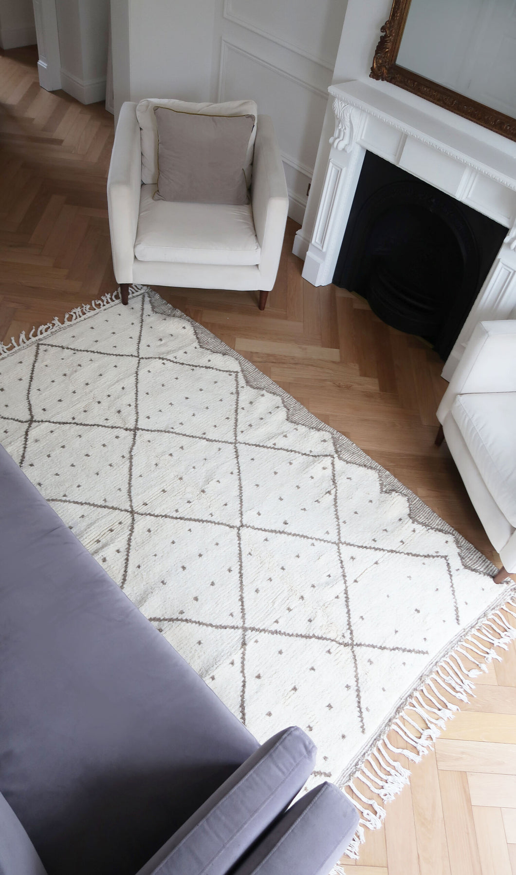 DOTTY, TAUPE 'BENI OURAIN' RUG