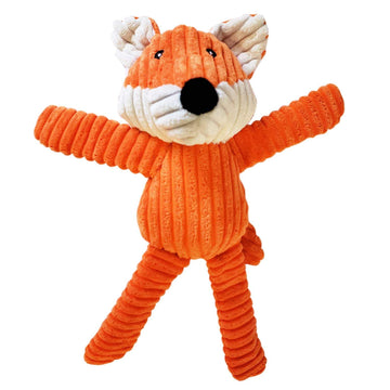 Victor The Fox - Corduroy Squeaker Plush Dog Toy