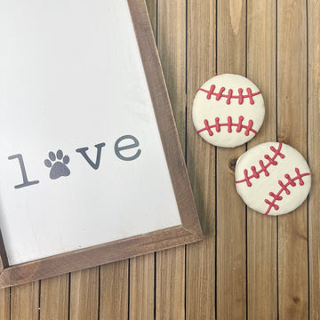 Baseball Gourmet Dog Cookie (2 pack)