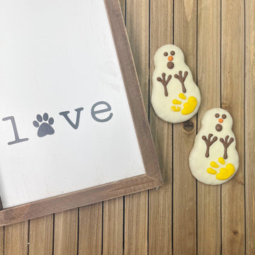 Oh No Yellow Snowman Gourmet Dog Cookie (2 pack)