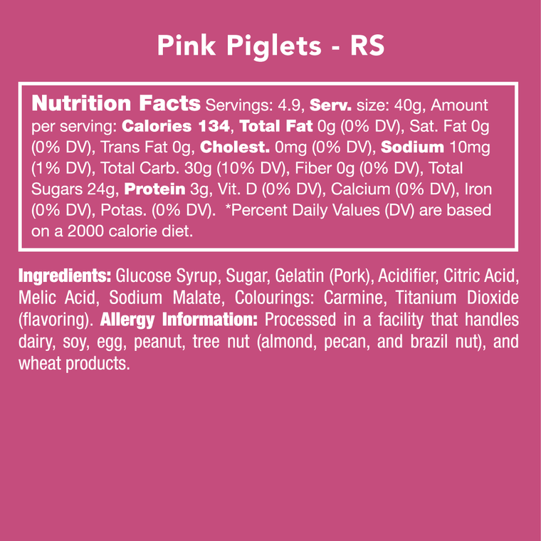 Pink Piglets (Non-GMO)