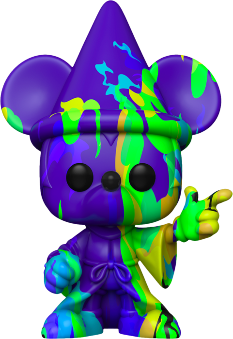 Fantasia - Sorcerer Mickey Purple & Green Artist Series 80th Anniversary Pop! Vinyl Figure with Pop! Protector