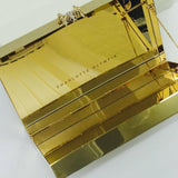 CHARLOTTE OLYMPIA Reflection Pandora gold-tone and mirrored Perspex clutch