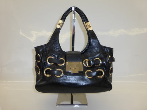 JIMMY CHOO BLACK LEATHER BAG