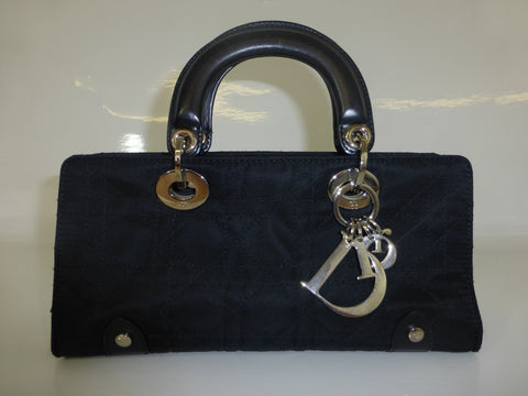 CHRISTIAN DIOR Cannage Stitched Lady Dior East West Bag
