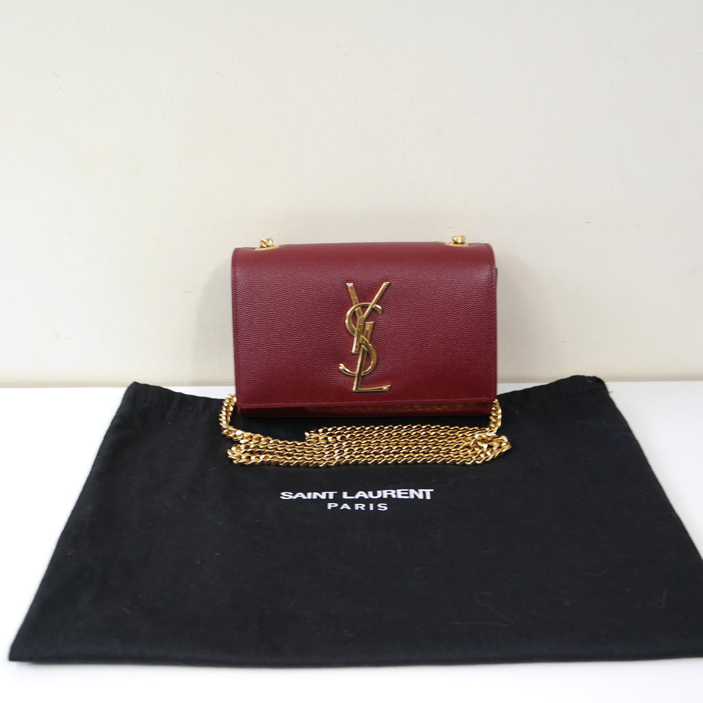 YSL RED LEATHER CROSSBODY BAG