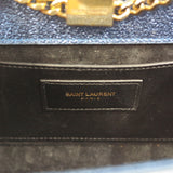 YSL BLUE METALLIC CROSSBODY BAG