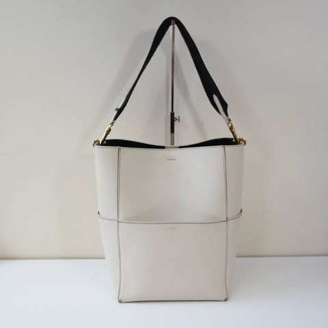 CELINE WHITE LARGE BUCKET BAG