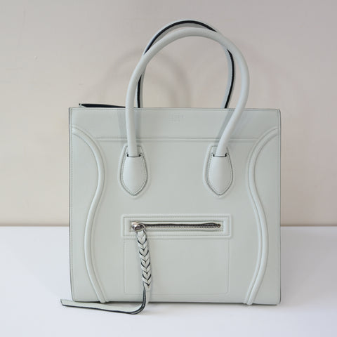 CELINE PALE GREEN STRUCTURED BAG