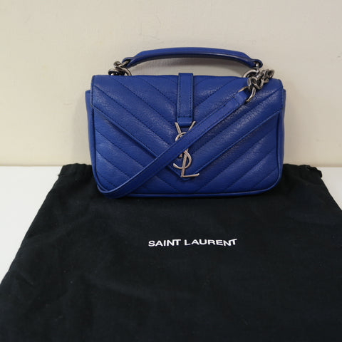 YSL BLUE STRIPED CROSS-BODY BAG