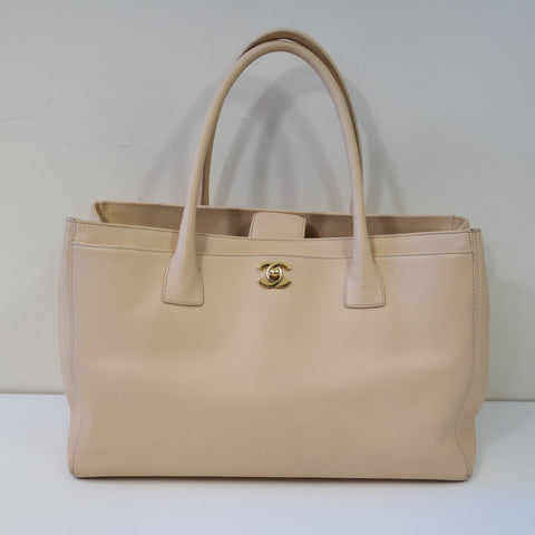 Chanel Orange & Pink Lambskin leather Chanel 31 Shopping Tote Bag