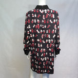 VICTORIA VICTORIA BECKHAM SILK PRINT DRESS SIZE 12 (BEST FIT 10-12)