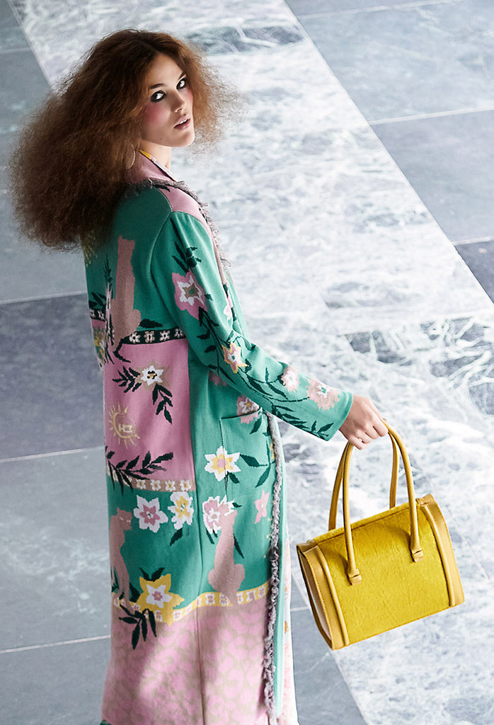 OSTWALD Finest Couture Bags Lookbook Case_Tote yellow Leatherbag Furbag