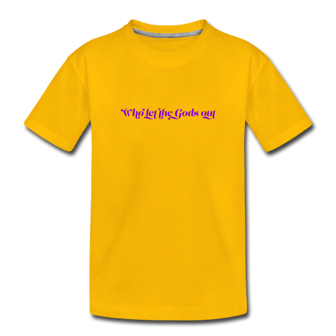 WHO LET THE GODS OUT SHIRT KIDS - Sonnengelb