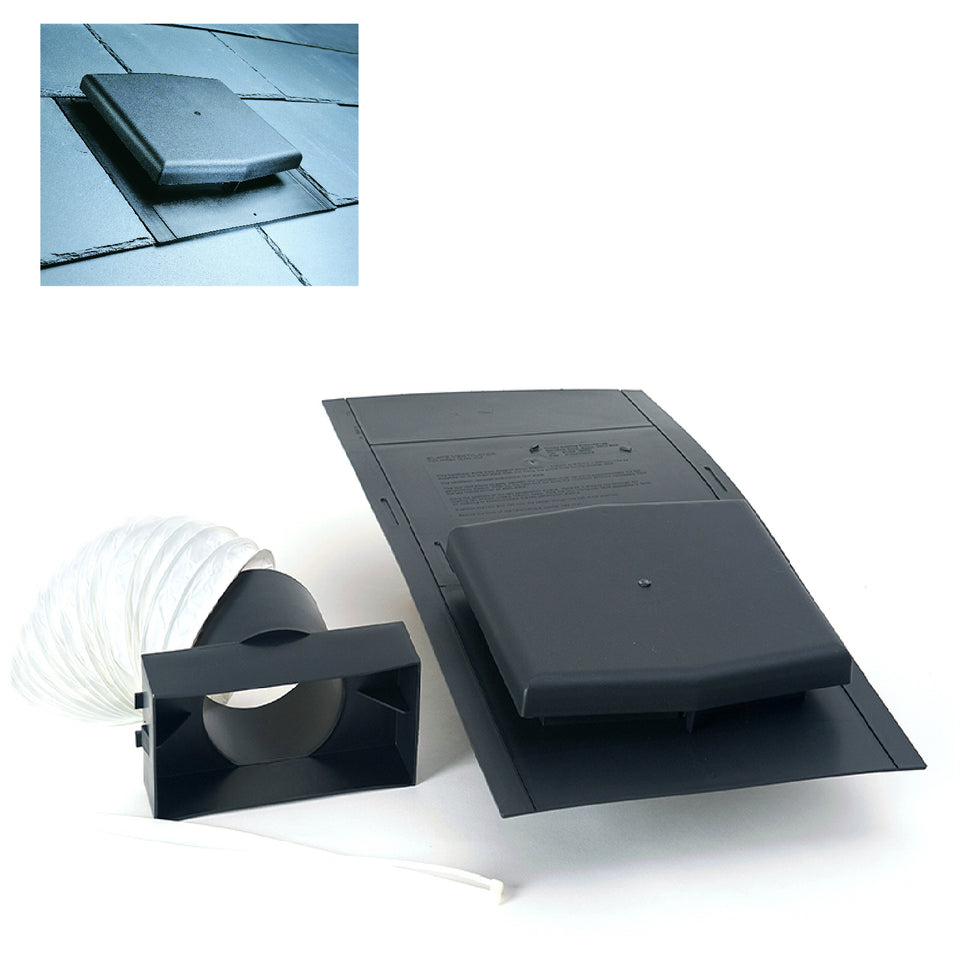 Slate Roof Tile Vent with Pipe Adapter Kit – Homesmart