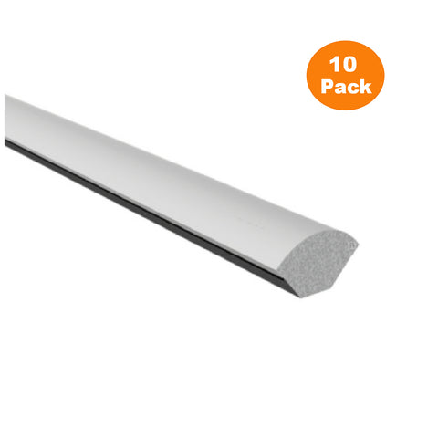 10 x White 19mm Quadrant UPVC Window Trim / 2.5 Metre Lengths