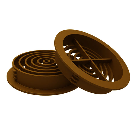 Golden Oak Plastic 70mm Round Soffit Air Vents <br> Menu Options