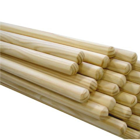 25 x Wooden Broom Handles / Mop Stales 1.2 Metres x 24mm