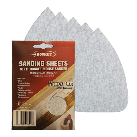 Hook and Loop 135 x 95mm Mouse Sanding Sheets<br>Menu Options
