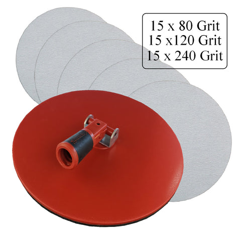 Hook and Loop Dry Wall Sander with 45 Mixed Grit Sanding Sheets